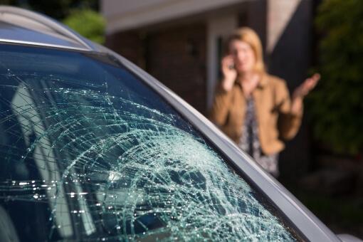 Cracked Car Windscreen